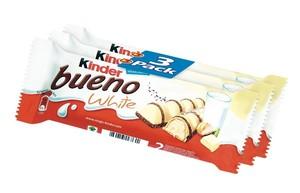 VAFELJ OBLIT Z BELO ČOKOLADO, KINDER BUENO WHITE, FERRERO, 3/1, 117 G