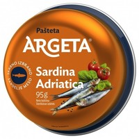 PAŠTETA SARDINA ADRIATICA, ARGETA, 95G