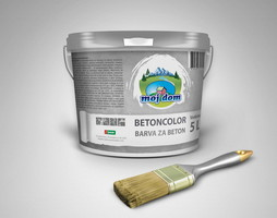 Barva za beton Moj Dom, 5 L, rjava