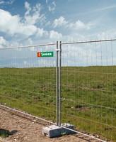 Mobilna kovinska gradbiščna ograja