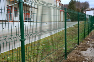 Panelna ograja zelena