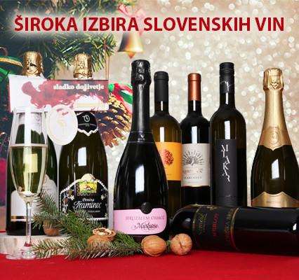 Široka ponudba vin