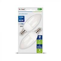 ŽARNICA LED V-TAC  5,5W E14 4000K 2/1
