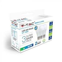 ŽARNICE LED V-TAC 9W E27 4000K 3/1