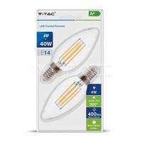 ŽARNICA LED V-TAC FILAM.4W E14 2700K 2/1